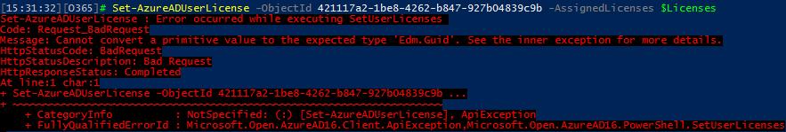 Removing Office 365 licenses via the AzureAD PowerShell module | Blog
