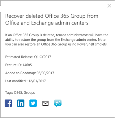 Recover or Delete Office 365 Groups via the Exchange Admin