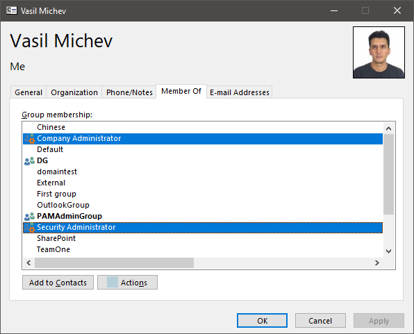 role group membership is now exposed in outlook s address book cards