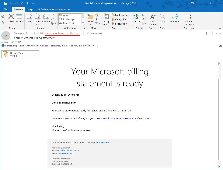 Change in Microsoft's billing notification email address | Blog