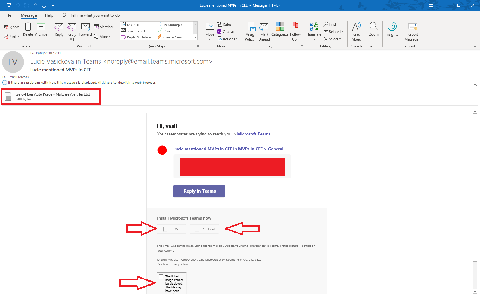 Microsoft ZAPs Teams notification emails | Blog